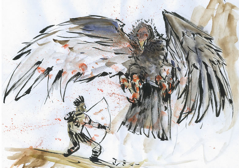 Monster Bird Drawing Monster Bird vs Warrior